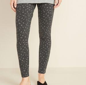 Ponte Knit Leopard Print Legging pants